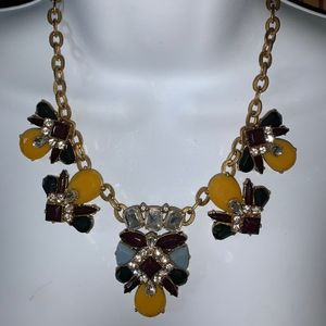 Multi Colored gold toned necklace